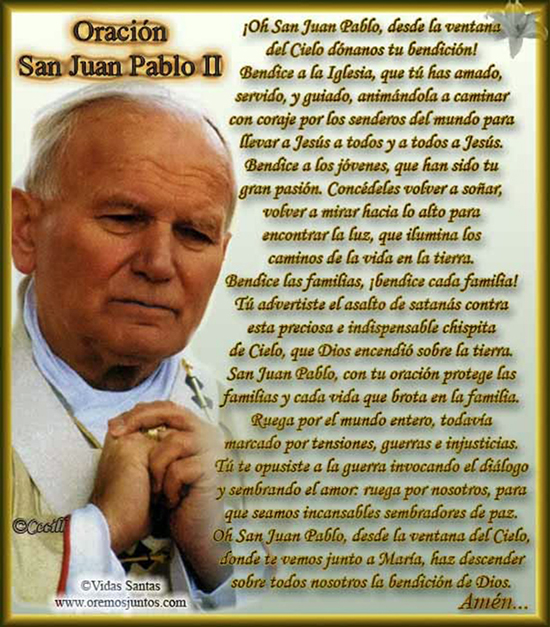 oracion a san juan pablo II