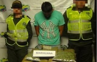 Capturado con marihuana