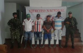 Cuatro capturados por minería ilegal en el Cauca