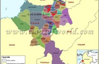 mapa cauca