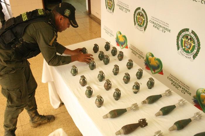 Policía Cauca incautó material de guerra.