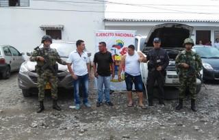 Capturados tres sujetos dedicados al robo de vehículos de alta gama en el Cauca.