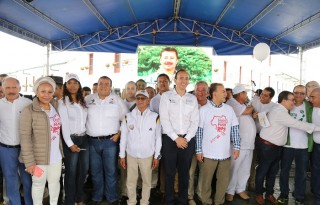 Apoteósica Movilización dando paso a la Paz lideró el Gobernador del Cauca.
