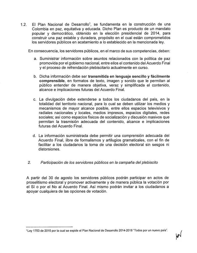 Directiva Presidencial número 05, del 5 de septiembre 2