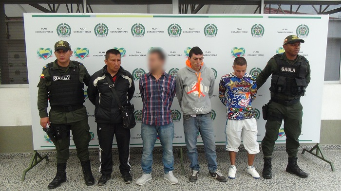 Capturados cuatro integrantes de la banda 'Los Comuneros', dedicada al hurto de motocicletas y a la extorsión.