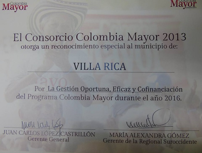 certicado colombia mayor