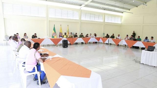 Gobernador del Cauca lidera consejo de Seguridad en el Norte del departamento