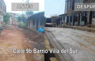 Habitantes de villa del sur y alcaldía pavimentaran otras dos calles.
