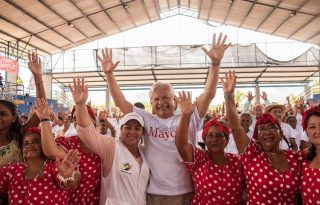Colombia Mayor con sus beneficiarios en el Bordo, Cauca