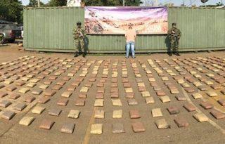 Cayó con 202 kilos de marihuana en Caloto Cauca.