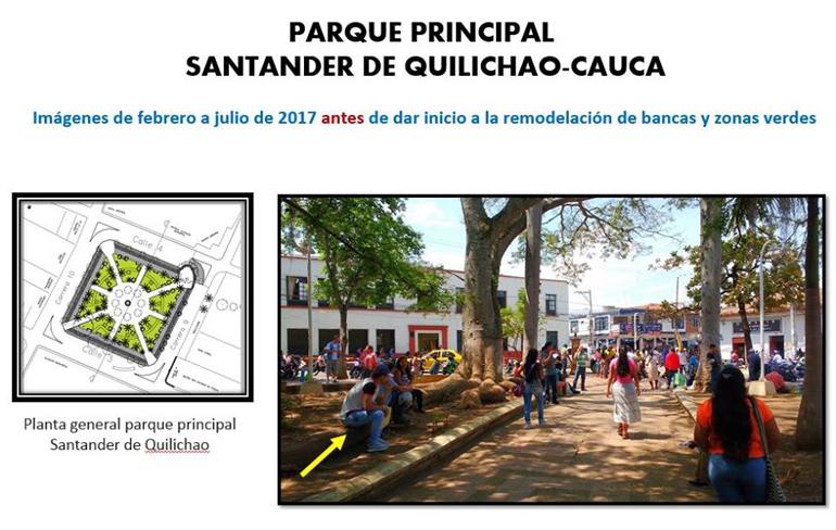 ...HABLAR O HACER?...El antes y el después del Parque Principal Francisco de Paula Santander... Propuesta de Mejoramiento.