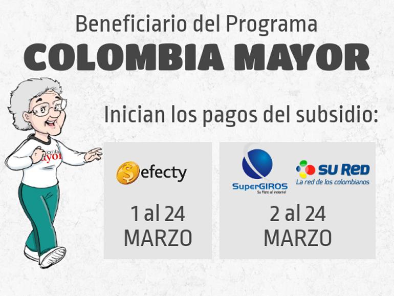 pago colombia mayor marzo 2018