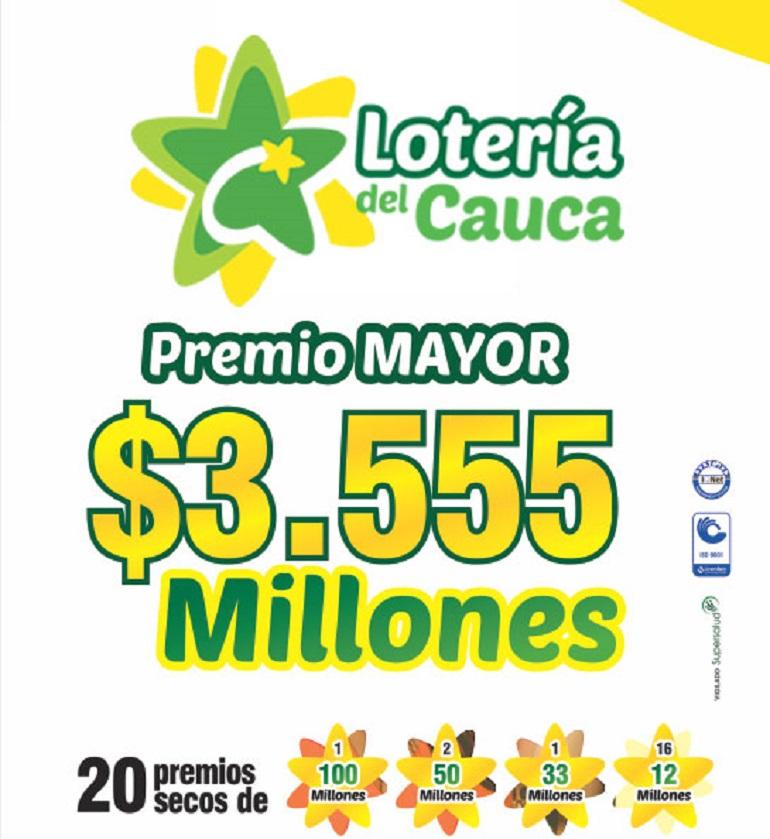 Nuevo plan de premios lotería del Cauca