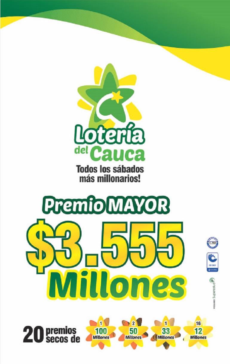 Plan de premios Lotería del Cauc