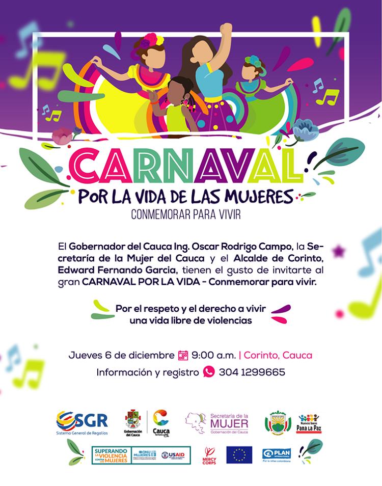 Gobernación del Cauca prepara el Gran Carnaval por las Mujeres